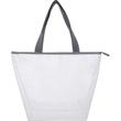 Fashion Mesh Tote Bag w/Clear PVC Lining - Fashion Mesh Tote Bag with Clear PVC Lining have roomy main compartment.