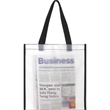 Frosted Shopping Tote Bag - Frosted shopping tote bag with large size main compartment.
