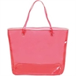Fashion Shopper Transparent Tote Bag - Fashion Shopper Transparent Tote Bag has ample room for items. Soft vinyl shoulder straps.