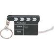 Movie Clapper Tape Measure w/Key Chain - Plastic case/cloth tape measure w/key chain in shape of Movie Clapper.