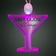 Light-up acrylic martini glass LED necklace