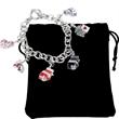 Rhea Nicole Metal Link Gaming Charm Bracelet - Metal link gaming charm bracelet.