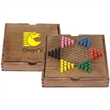 Checker set - Checker set with a wood case.