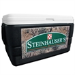 52 Quart Ice Chest with GameGuard Wrap - 52 quart ice chest with camouflage wrap.