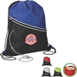 Drawstring Cooler - Drawstring cooler with zippered front pocket and media hole.