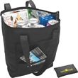 Folding Cooler Tote - Foldable foil insulated tote bag with zippered closure.