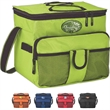 24 Can Cooler - Collapsible 18-can cooler bag with heat sealed PEVA lining.