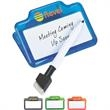 Dry Erase and Memo Clip - Dry erase and memo clip with marker.