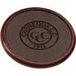 Wood & Leather Single Coaster - Solid wood and leather coaster.