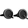 Brass Cufflinks - Custom Shape Gunmetal - Custom Q shape gunmetal cufflinks with a torpedo style closure.