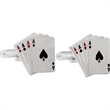 4 Aces Cuff Links - 4 Aces shaped cufflinks with bullet back closure.