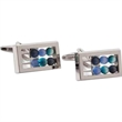 Abacus Cuff Links - Abacus shaped cufflinks with moving balls and a swivel back closure.