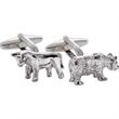 Bull/Bear Cuff Links - Bull / bear shaped cufflinks with a swivel back closure.