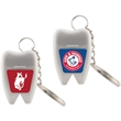 Tooth Shaped Dental Floss with Keychain - Dental floss with key chain in tooth shaped container.