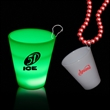 Green 2 oz Neon Look LED LightUp Glow Shot Glass with J Hook