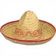 Child's Straw Sombrero - Child's straw sombrero; natural. Packed 12 dozen. Must order in carton packs. Blank.