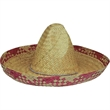 Straw Sombrero - Natural straw sombrero. Packed 12 dozen. Must be ordered in carton packs. Blank.
