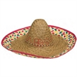 Colored Sombrero - Colored sombrero; value. Packed 6 dozen. Must be ordered in carton packs. Blank.