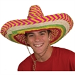 Colored Sombrero - Sombrero; colored. Packed 6 dozen. Must be ordered in carton packs. Blank.
