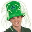 Velvet Irish Tall Hat With Light-Up Tubes - Light-up velvet Irish tall hat. Packed 1 dozen. Must be ordered in cartons. Blank.