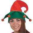 Light-Up Red/Green Felt Elf Hat - Light-up red/green felt elf hat. Packed 1 dozen. Must be ordered in cartons. Blank.