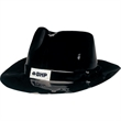 Plastic Gangster - Plastic Gangster Hat w/Label - 1 Color. Color: Black.  Packed 6 dozen. Must be ordered in carton packs.