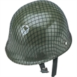 Child's Army Helmet (Plastic) - Child's Rigid Plastic Army Helmet.  Packed 3 dozen. Must order carton packs. Blank.