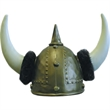 Plastic Viking With Fur - Rigid Plastic Viking Hat With Fur. Packed 2 dozen. Must order in carton pack. Blank.