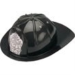 Fire Chief Hat (Plastic) - Black Rigid Plastic Fire chief Hat.  Packed 2 dozen. Must be ordered in carton packs.