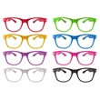 Glasses with Clear Lenses - Neon colored sunglasses with clear lenses.