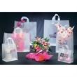 Clear soft loop handle - shopping bag style - Clear shopping bag with soft loop handle made from 3 mil hi-density plastic.