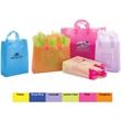 Color soft loop handle - shopping bag style - Color shopping bag with soft loop handle made from 3 mil hi-density plastic.