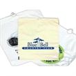 Custom plastic bag - cotton drawstring - Custom plastic bag with cotton drawstring closure. 1.75 mil thick.
