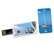 "8GB Hi-Speed USB 2.0 Mini Thin Card Drive (TM) TM - 8GB Super-mini USB drive is just over 2"" long, 1 side full color imprint"
