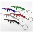 Rifle shape bottle opener key chain
