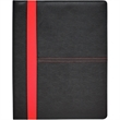 Rodeo Stitched PVC Standard Size Padfolio - Rodeo stitched PVC padfoilo with inside flap pocket, elastic pen loop, business card pockets and 40-sheet lined paper pad.