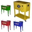 Rolling ice chest cooler with wheels - Rolling ice chest cooler with wheels
