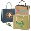 Super Jute Tote - Eco-green tote bag, made from a natural vegetable fiber called jute.