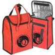 Personal Lunch Tote - Polyester lunch tote with PU coating, padded foil insulation and Velcro style closure