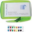 Business Card Slitter Plus (TM) - Letter opener / staple remover, holds standard business card.