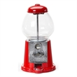 """Old fashion gumball machine/metal and glass - Red metal and glass old fashion gumball machine, 11""""."""