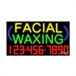 Neon Sign with Phone # - Facial Waxing - Neon Sign with Phone # - Facial Waxing.