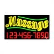 Neon Sign with Phone # - Massage - Neon Sign with Phone # - Massage.