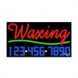 Neon Sign with Phone # - Waxing - Neon Sign with Phone # - Waxing.