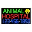 Neon Sign with Phone # - Animal Hospital - Neon Sign with Phone # - Animal Hospital.