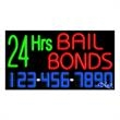 Neon Sign with Phone # - 24 Hrs Bail Bonds - Neon Sign with Phone # - 24 Hrs Bail Bonds.
