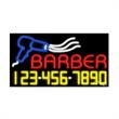 Neon Sign with Phone # - Barber - Neon Sign with Phone # - Barber.