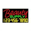 Neon Sign with Phone # - Beauty Supply - Neon Sign with Phone # - Beauty Supply.