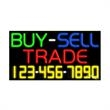 Neon Sign with Phone # - Buy Sell Trade - Neon Sign with Phone # - Buy Sell Trade.