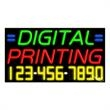 Neon Sign with Phone # - Digital Printing - Neon Sign with Phone # - Digital Printing.